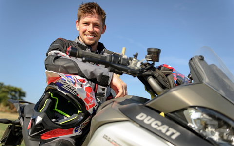 Casey Stoner Rides the Multistrada Enduro at the DRE Enduro