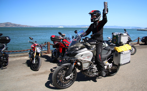 Ducati Globetrotter 90°: Round the World Torch Travels from Japan to the USA