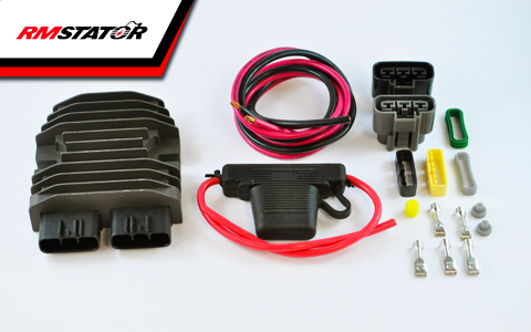 RM Stator's MOSFET Voltage Regulator Rectifier Kit
