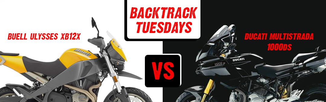 backtrack tuesdays buell ulysses vs ducati multistrada bikes rh adventuremotorcycle com
