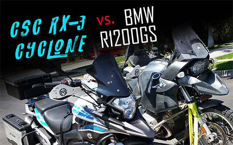 Impressions of the CSC RX-3 Cyclone vs. the BMW R1200GS