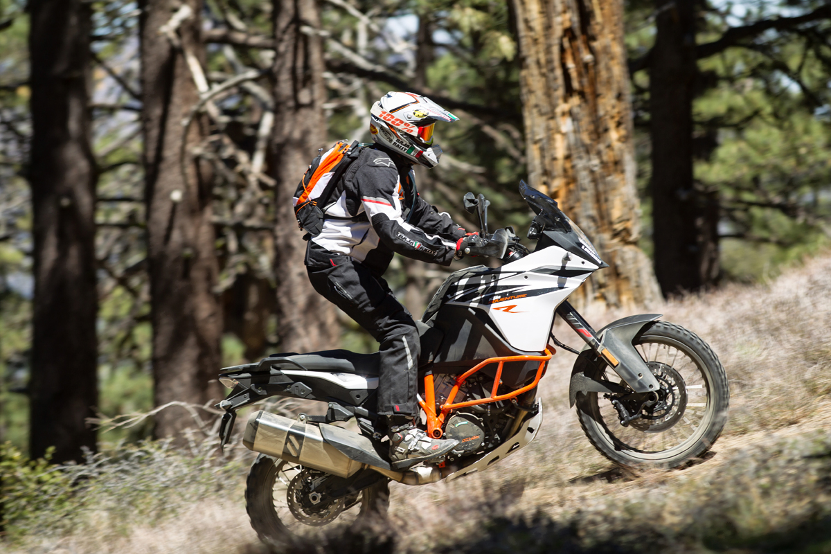 The KTM 1090R is 22lbs. lighter than the 1290R