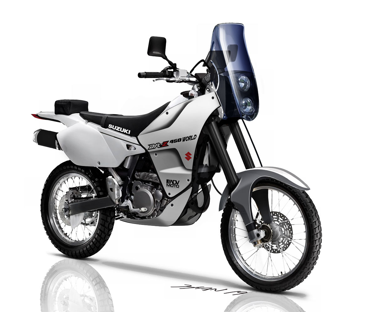 Incredible Bike Dreaming Suzuki Dr Z 450 Rally World Concepts Pabps2019 Chair Design Images Pabps2019Com