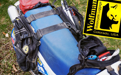 Wolfman Enduro Pocket and Daytripper Saddlebags