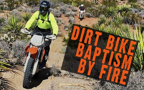 Mojave Desert Ride - Dirt Bike Baptism by Fire