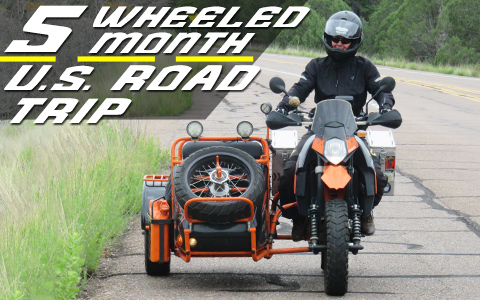 KTM 1190 and 950 Sidecar US Road Trip